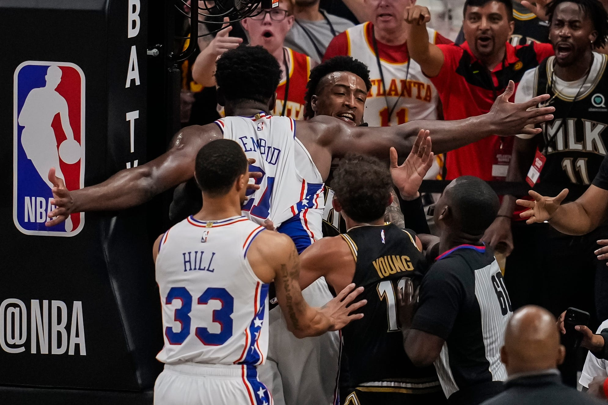 Sixers  Joel Embiid fined for Game 6 tussle with Hawks  John Collins