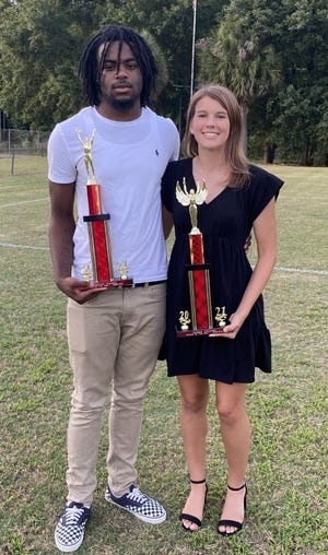 Wade Hampton High School's Male Athlete of the Year for 2020-21 is Versalius Johnson, and the Female Athlete of the Year is Alexis DeLoach.