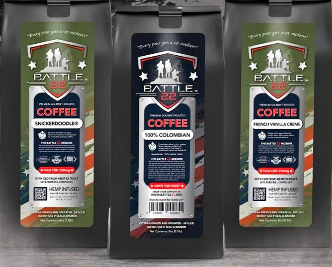 """""""Battle 22"""" coffee will be sold for the first time at the Philly Joe """"Ink to End 22"""" event Saturday in Bensalem.  Battle 22 is a national, non-profit organization helping veterans  with suicide prevention and addiction prevention programs."""