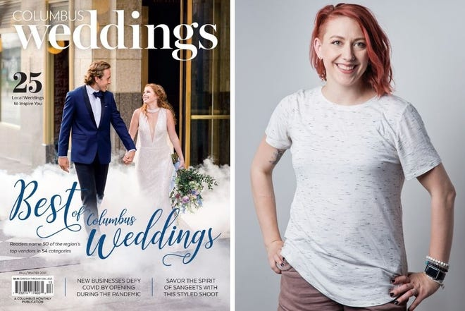 Our new cover, left, and editor Emma FrankartHenterly