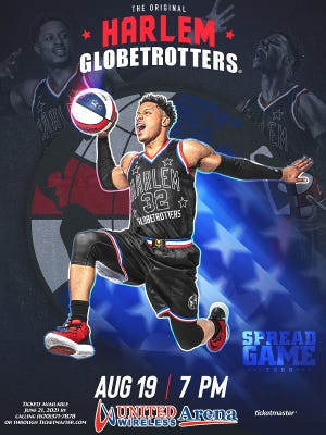 The Harlem Globetrotters return to Dodge City at United Wireless Arena on Thursday, Aug. 19. Tickets go on sale Friday, June 25 at 10 a.m., with ticket prices ranging from $26-$96, MagicPass is available for $20 and birthday bash events are $50-$100.