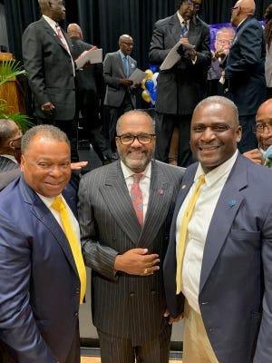 "City of Donaldsonville Mayor Leroy Sullivan, Congressmen-elect Troy Carter and Ascension Parish Councilman Dist. 1 Coach Alvin ""Moon"" Thomas."
