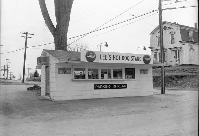 Lee's Hot Dog Stand in Baldwinville in the 1950s.