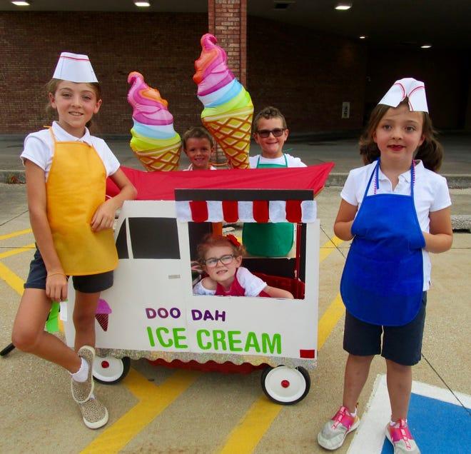 "The ""Ice Cream Kids"" in the Doo-Dah Parade were Ryne Haluska, Jake Turner, Harper Haluska, Millie Turner and Still Haluska."