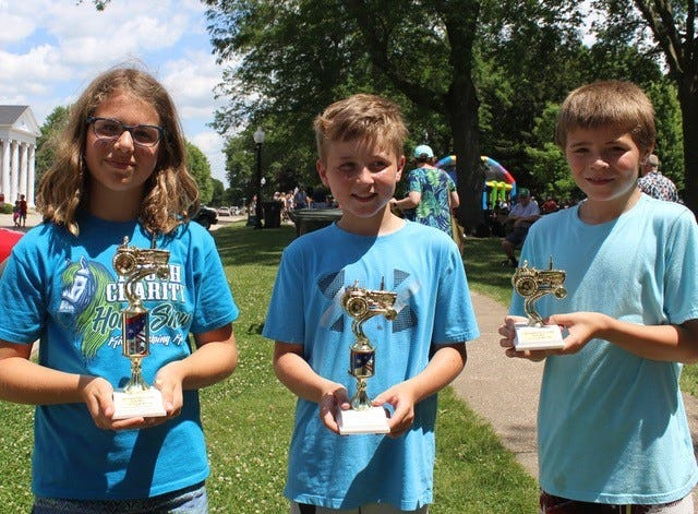 Nine and Ten Year Old Winners:  First Place: Nicole Werling,  Second Place:  Kasen Mosier,  Third Place:  Phoenix Heller