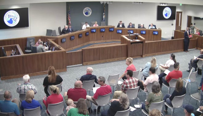The Ascension Parish Council concluded a late-night meeting by voting 9-2 for a nine-month moratorium on new developments.