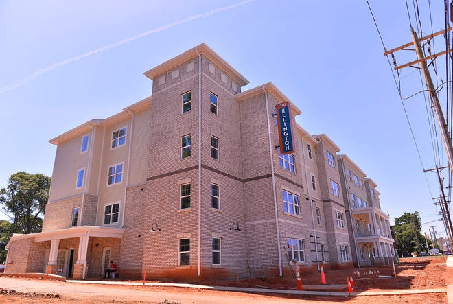 The Ellington apartments are nearing completion, Thursday, June 17, 2021. The senior living complex, located on Magnolia Street in Spartanburg, will consist of 50 units of affordable apartments with a choice of one or two bedrooms.