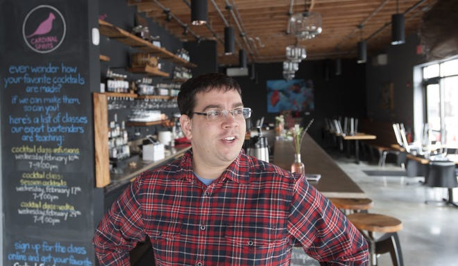Jeff Wuslich, co-founder of Cardinal Spirits, is seen inside the craft distillery in 2016.