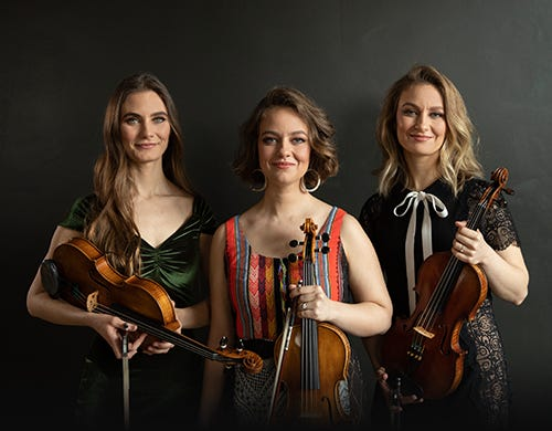 Take in a concert of progressive Western swing with The Quebe Sisters at the Narrows Center for the Arts on July 15.