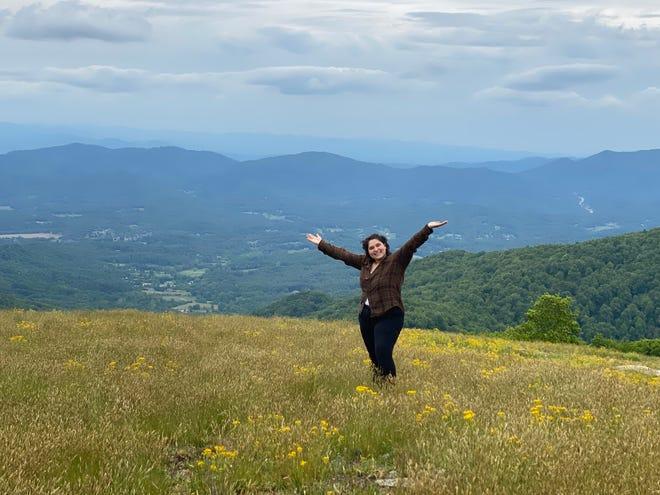 Alexla Perez-Sanchez on Bearwallow Mountain.