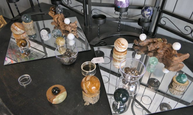 Stones for sale at the Krystal Emporium in Hutchinson.
