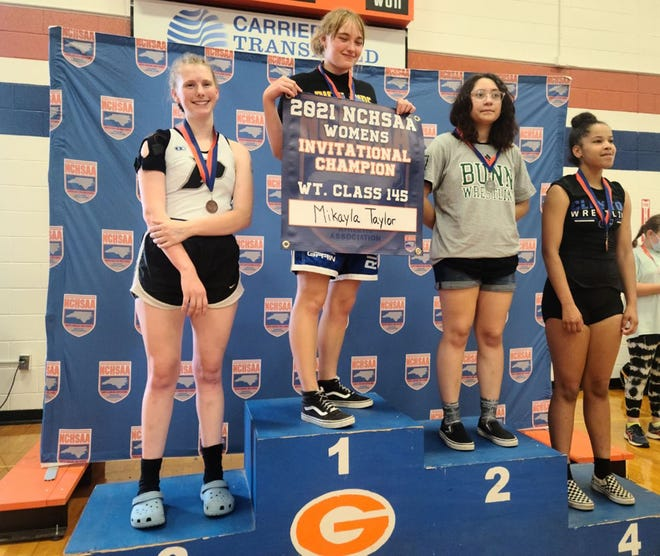 Richlands senior Mikayla Taylor won the NCHSAA 145-pound girls' wrestling title on June 19 at Glenn High School. [Contributed Photo]
