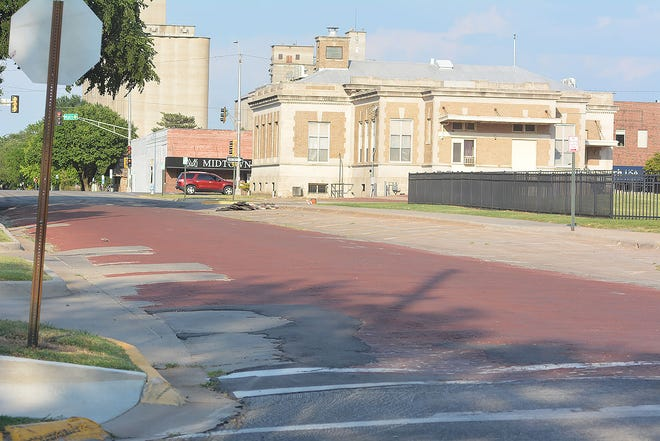 The 100 block of West Seventh Street, between Poplar and the alley, will be closed for about the next two weeks for road repairs.
