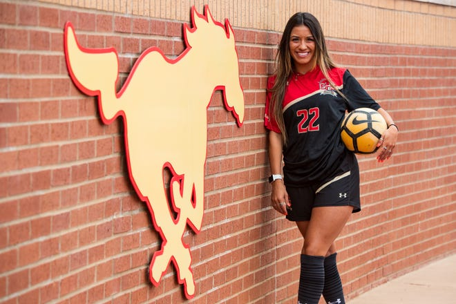 Coronado forward Lexi De La Cruz is the 2021 Lone Star Varsity girls soccer player of the year.
