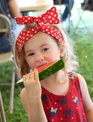 Nothing says summer like watermelon at Rutland's Fourth of July festival.