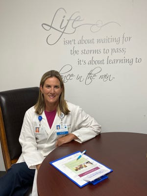 Dr. Carol Gardner, a medical doctor specializing in palliative care, in her outpatient office at Cornerstone Health Services in Lakeland.