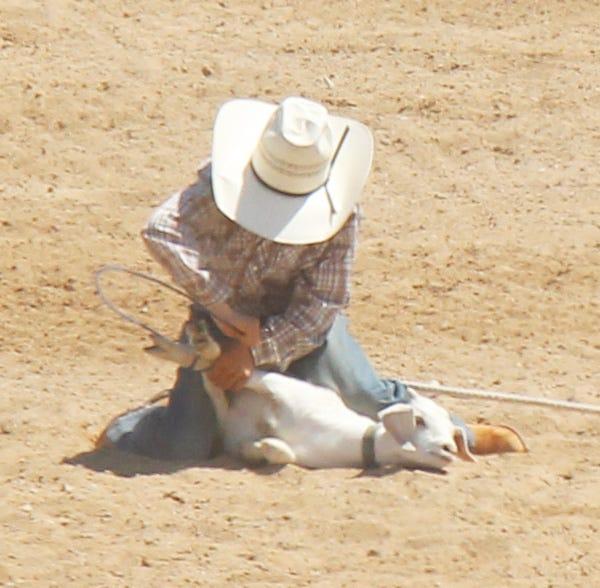 Traven Sharon at last year's La Junta Kids Rodeo.