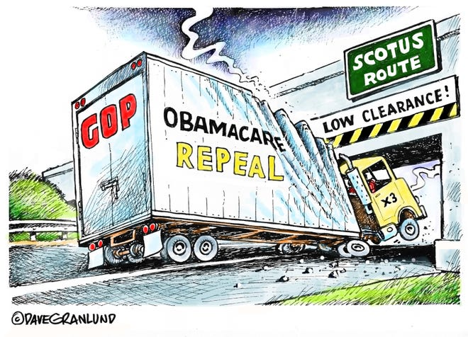 Dave Granlund cartoon SCOTUS Obamacare