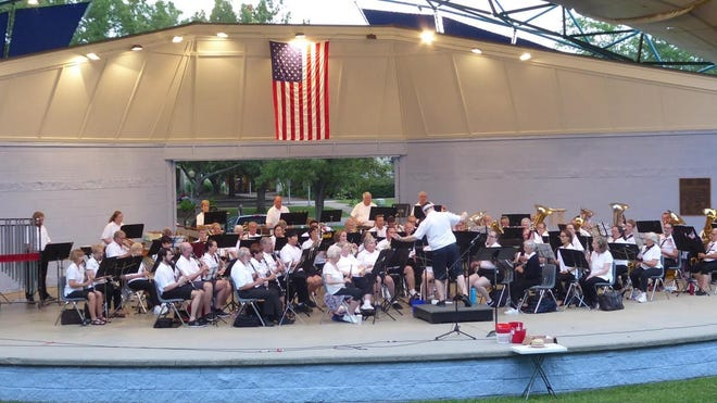 The Oak Ridge Community Band performs at A.K. Bissell Park at a past year's patriotic show. The Community Band is returning to the Pavilion at Bissell Park to perform on Sunday, July 4, before the city's fireworks show.