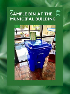 This image supplied by the city of Oak Ridge shows a sample garbage bin sitting at the Municipal Building in Oak Ridge.