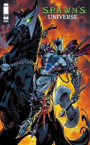 """Variant cover art for """"Spawn's Universe."""""""