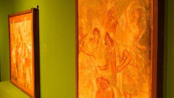"""Οι αρχαίες ρωμαϊκές τοιχογραφίες εμφανίζονται σε """"Ζωγράφοι της Πομπηίας"""" Έκθεση στο Μουσείο Τέχνης της Οκλαχόμα Σίτι."""