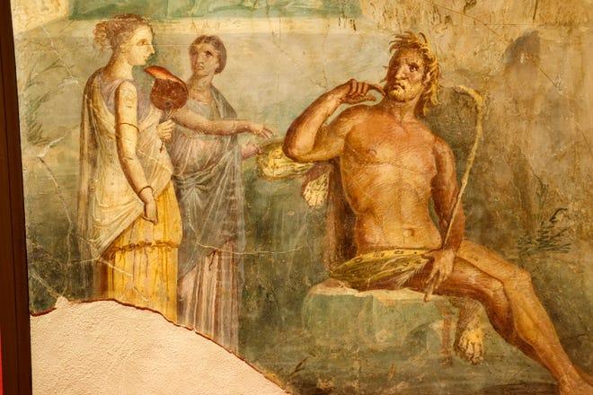 """Royal Stables Villa, Portici"" Εμφανίζεται ""Ζωγράφοι της Πομπηίας"" Έκθεση στο Μουσείο Τέχνης της Οκλαχόμα Σίτι."