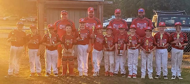 The Roger Allen 9-year-old district team won its age division at the 15th annual Kittredge Memorial Baseball Tournament on Sunday at Roger Allen Park in Rochester. Members of the team included Brayam Brown, Gavin Hamilton, Geoffrey Harvey, Bruin Henderson, Logan LaCoss, Camden Morales, Kye Roy, Jacob Ruff, Jackson Stokes, Easton Truax, Lincoln Welch and Cohan Wheeler. Coaches were Aaron LaCoss, Anthony Truax and Andrew Welch.