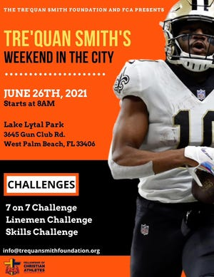 Tre'Quan Smith is hosting an event Saturday in West Palm Beach for high schools, which will include a 7-on-7 challenge.