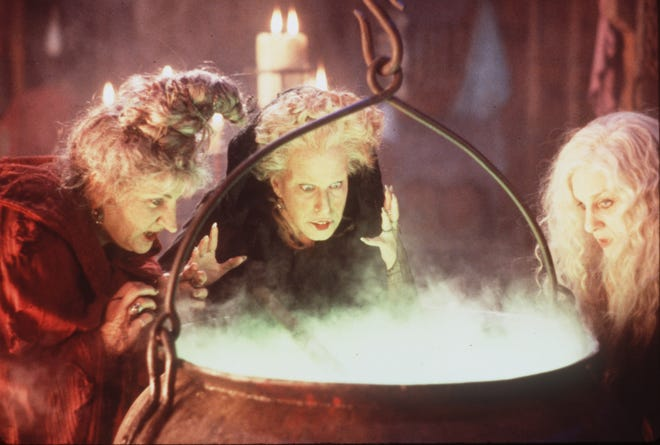 """From left, Kathy Najimy, Bette Midler and Sarah Jessica Parker in the original """"Hocus Pocus."""""""