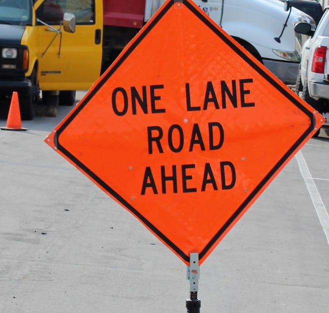 Lanes along Midwestern Parkway near Hamilton Boulevard will be closed for repairs.