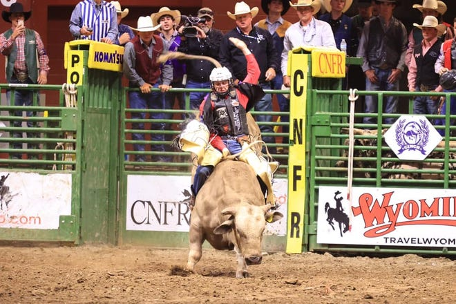 Tarleton State bull rider Cullen Telfer received no time in the finals but rode his first-round 78 to a seventh-place finish in the average at the College National Finals Rodeo held last week in Casper, Wyoming.