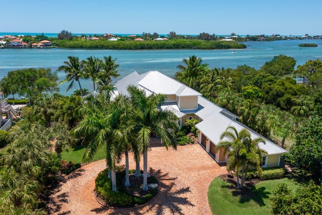 The coastal contemporary home on Bayshore Drive in Nokomis was custom-built for Peter and Connie Dumas in 2006.