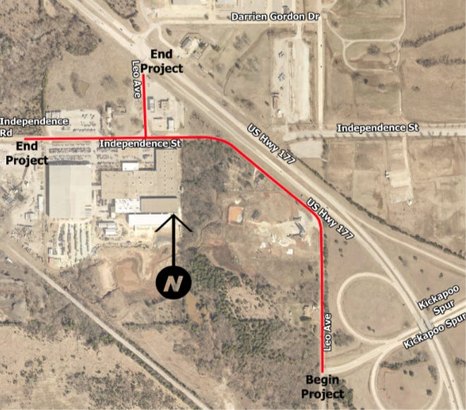 A small but vital portion of Leo Street may soon get some much-needed improvements as the city and Pottawatomie County work together with ODOT to accomplish the project.
