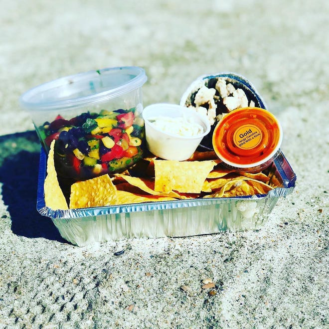 The Beach Bomber Nachos are one of the popular meal kits.