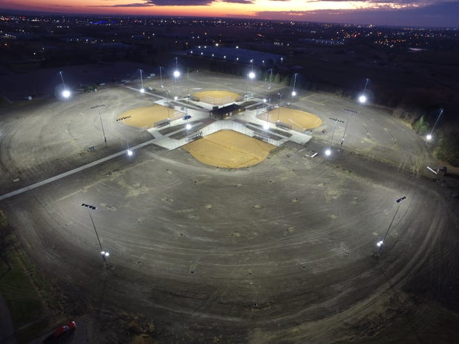 Work is expected to be completed in May 2022 for the $4.2 million softball complex in Aberdeen.