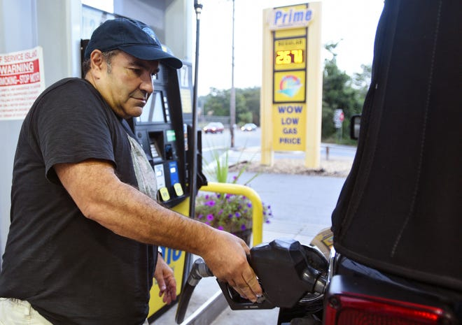 The average price for a gallon of gas in Worcester was $3.05 on Monday.