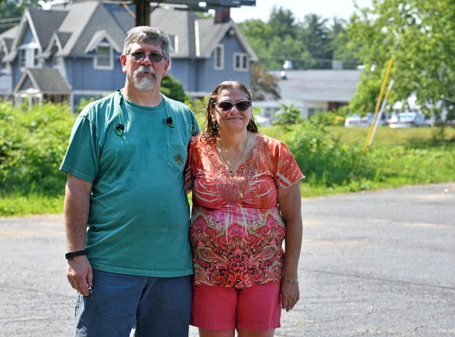 John W. Washburn Sr. and Patricia A. Washburn of Brookfield. Patricia is leading a civil action against the Brookfield Planning Board and Jeff Tasse of TCP Realty LLC in Southbridge. The suit claims that a special permit for two large propane tanks violates Brookfield's zoning bylaws because it's within 400 feet of the Brookfield Elementary School and within a 100 feet of residences occupied by elderly citizens.