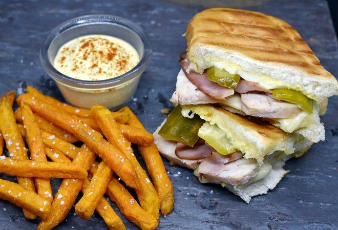 Cuban Sandwich with Air Fryer Sweet Potato Fries
