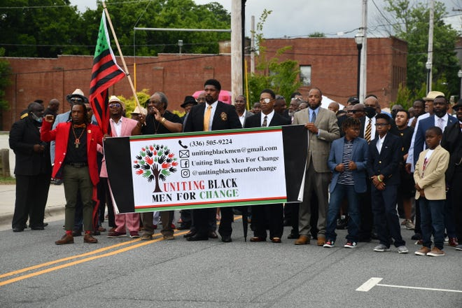Uniting Black Men for Change held a Juneteenth march last Sunday that ended on Washington Street.