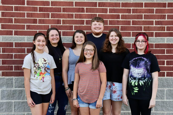 The Sandy Valley Drama Club will present 'Matilda' at 7 p.m. June 25-26 and at 2 p.m. June 27. Pictured, from left: Joy Jones, Abbie Hughes, Meghan Hughes, Ava Schoeppner, Nick Hughes, Shelby Chester, and Sharon Green.