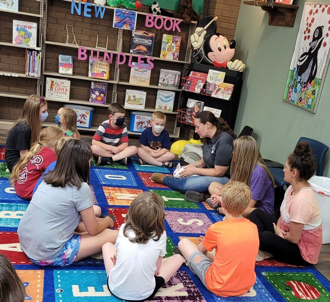 Children gather for one of the many programs at the Logan County Library in Boonville.