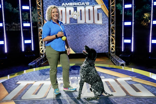"""Sara Chisnell of Coshocton and Sue, a 6-year-old German Shorthair Pointer, will compete on """"American's Top Dog"""" during its second season debut at 8 p.m. June 29 on A&E."""