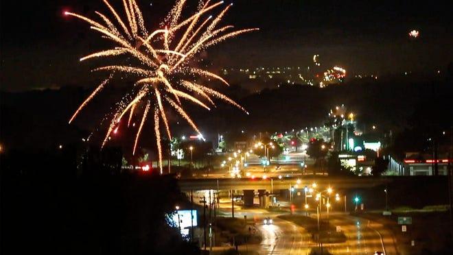 Fireworks above Fond du Lac.