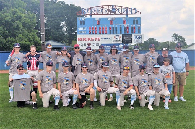 The Cyclones 16u baseball team, consisting of local players, went 6-0 and won the Beavers Dam Wood Bat Tournament. Lancaster's Layton O'Rourke (top left with bat) was named the tournament's Most Outstanding Player.