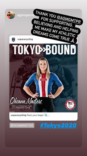 Oksana Masters announced on Instagram that she's headed to Tokyo to compete in the 2021 Paralympic Games.