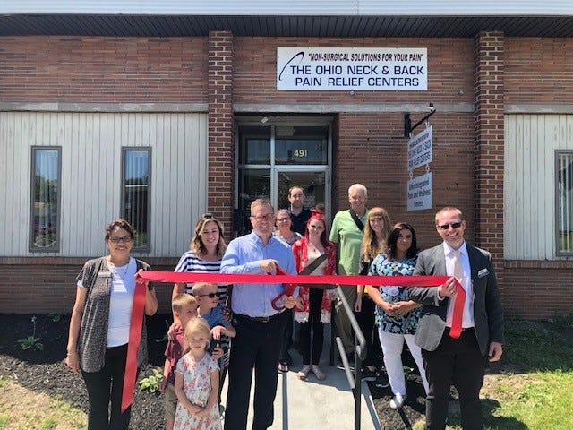 Marion Area Chamber held ribbon cutting ceremonies at The Ohio Neck & Back Pain Relief Center and Ohio Integrated Pain & Wellness Centers, both located at 491 E. Center St.