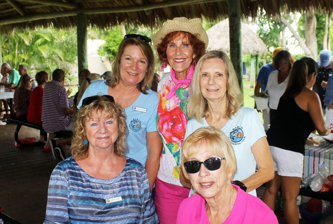Cindy Crane, Dolores Constanzer, Susie Walsh, Pat Arcidiacono and Madeline Moore always enjoy the picnics.