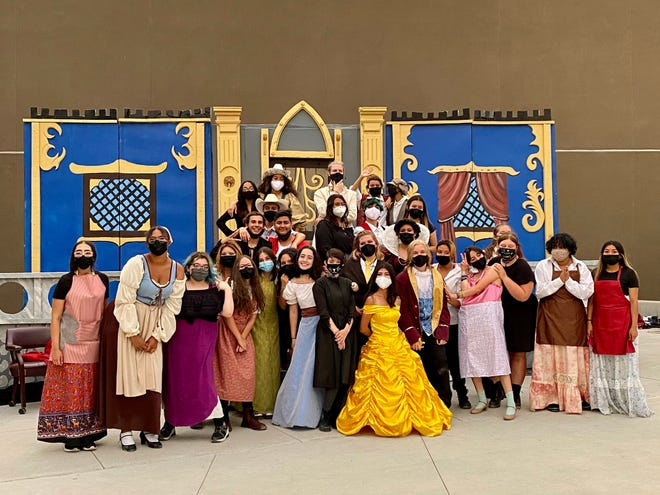 Las Cruces High School holds its first play since before the COVID-19 pandemic closed down schools in March 2020. The Beauty and the Beast production was held outdoors for the safety of students and attendees. The cast poses together after its final performance on June 12, 2021.