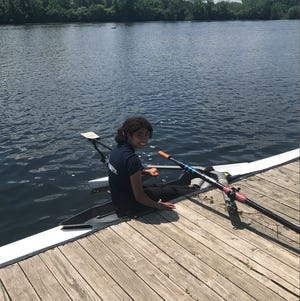Sophia Holdwick is trading basketball for rowing in her freshman year at Michigan State